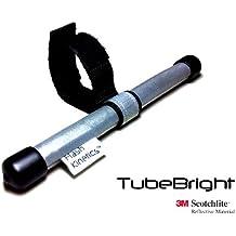 Alta visibilidad TubeBright dispositivo de seguridad accesorio. Hecho de 3 m Material reflectante Scotchlite - refleja de 360 total de usuarios no anónimos. En cualquier tubo Reflector puede hasta 45 mm diámetro inc ser usado. Bicicleta postes, Cross-barras, forks, bastidores, remolques, cochecitos y sillas. Certificado al estándar británico: 6102/2 Carretera Aprobación Tráfico