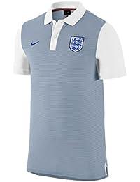 Nike ENT AUTH GS Slim Polo - Polo para hombre, color gris / blanco / azul, talla M