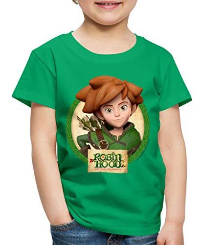 Spreadshirt Robin Hood Schlitzohr Von Sherwood Lächelnd Kinder Premium T-Shirt, 110/116 (4 Jahre), Kelly Green Robin Hood Shirt