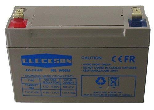 Batterie au plomb étanche 4 Volts 3.5 Ah AGM Eleckson