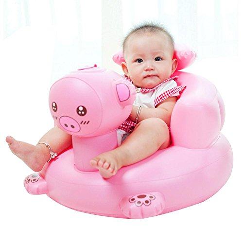Per Sillas Hinchables BB para Niños Infantiles Sofá Inflables Plegable y Portátil Silla de Comedor para Bebés Asiento de Bañera
