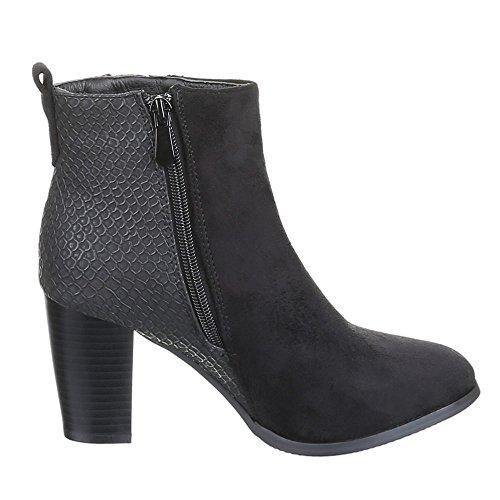 Chaussures, 0–65, bottines Noir - Noir