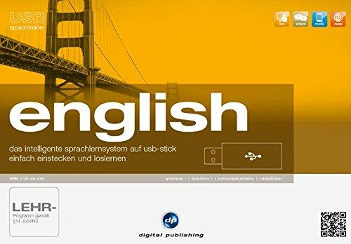 USB Sprachtrainer English, USB-Stick Das intelligente Sprachlernsystem USB-Stick - einfach einstecken und loslernen. Sprachkurs 1, Sprachkurs 2, Kommunikationstrainer, Vokabeltrainer. Version 10x. 2 GB USB-Stick. Windows 7, XP, Vista