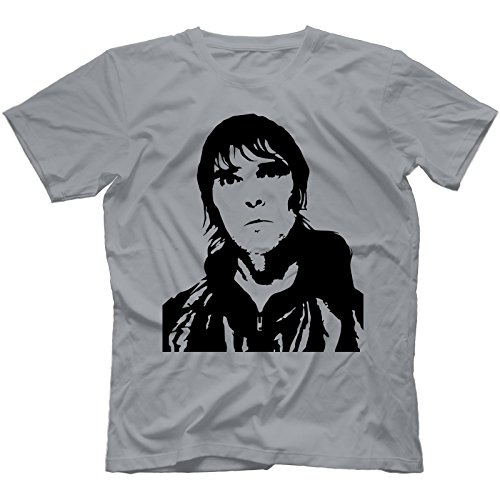 Ian Brown T-Shirt 100% Baumwolle Grau