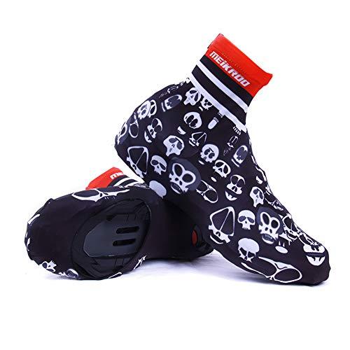 WWJQX Lock Shoe Cover Wind Widerstand Outdoor Fahrrad Schuhe Cover Ausrüstung Stiefel Shoe Cover Regenanzug/Gear Im Freien (Farbe : SCHWARZ) - Wind Shoe Cover