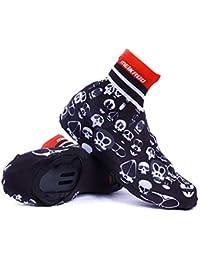Cubre zapatillas de ciclismo Cubre los zapatos de la bici, botas impermeables impermeables Cubiertas de las botas de la lluvia de los zapatos de las mujeres de los hombres-Negro Antideslizantes Lavabl