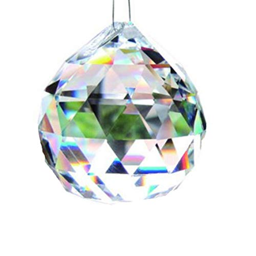 HEQIANGZS Sweet Creative Glass Crystal Ball Prism Crystal,Lamp Lighting Pendant Decor(None Colours) -