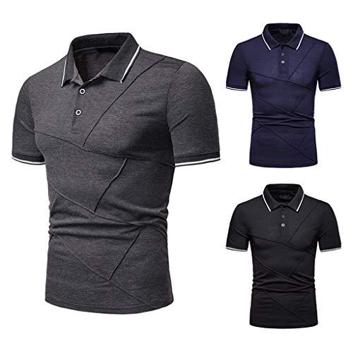 16734b9b16896 KEERADS-Vêtements Chemise Shirt Hommes, Polo Mode Couleur Unie De Grande  Taille Piqûre Décontracté