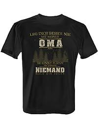 Oma /& Enkel Damen T-Shirt Spruch Geschenk Idee Geburt Junge Kind Baby Enkelsohn