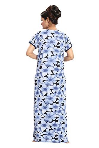 Tucute-Womens-Flower-Print-Nighty-Night-gown-Nightwear-Nightdress-with-16-Long-Zip