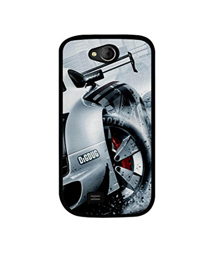 Casotec Drift Sport Print Design Canvas Printed Soft TPU Back Case Cover for Micromax Canvas Elanza A93  available at amazon for Rs.349