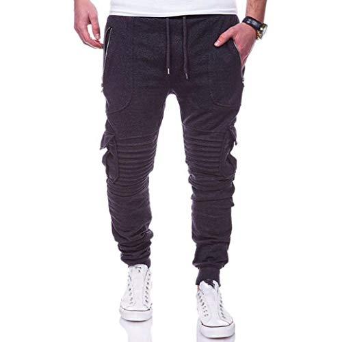 Jugend 6-pocket Pant (Men Casual Pants Plissee Pocket Design Komfort StrapazierfäHige Anti Pilling Anti Shrinkage TäGliches Tragen Von Hosen)