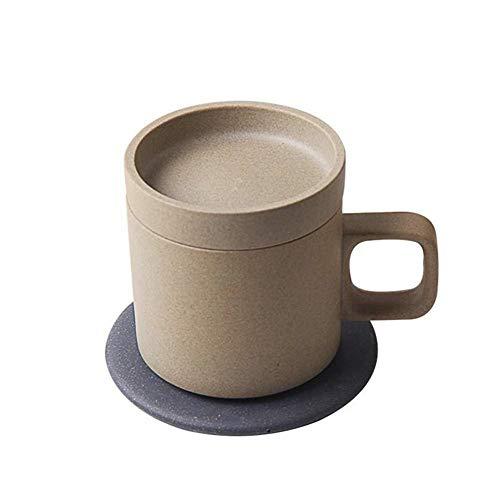 XMYL Kabelloses Ladegerät Isolierung Tasse 2 in 1 Intelligent 55 ° Induktionsladegeräte Mug Becher für Familien, Schulen, Büros,für Damen Warmes Geschenk,Coffee