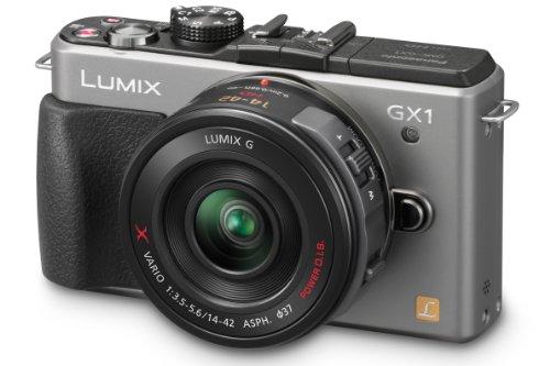 Panasonic DMC-GX1XV Fotocamera Mirorless 16 Mp, Full HD, Touch, Hotshoe, Grigio