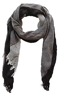 Damen Schal Tuch Alexa 60x160cm, schwarz grau Stohla gestreift, Multifunktionstuch