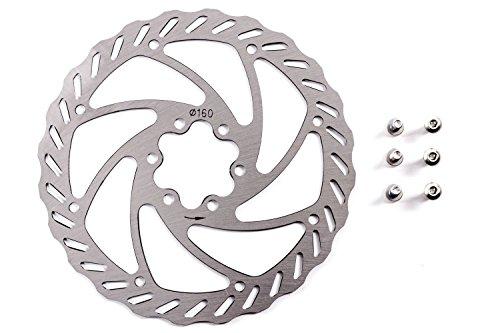 bremsscheibe-promax-edelstahl-fahrrad-disc-gelocht-160mm-6-loch-mit-schrauben