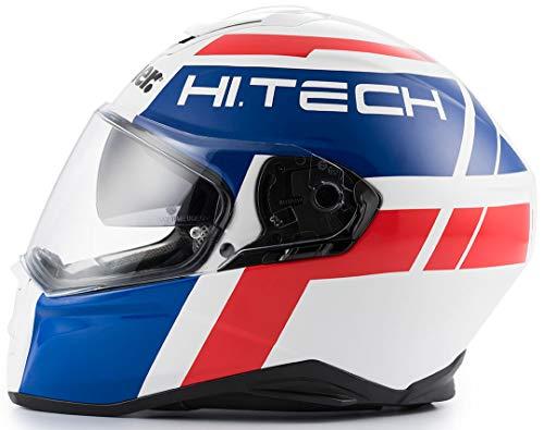 Blauer Ht Casco Force One 800 White-Blu-Red Glossy S