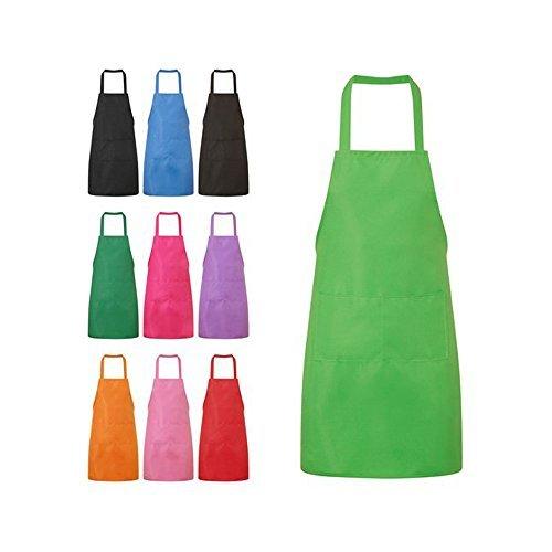 Nykkola Küchen-Schürze für Frauen/Mädchen, Kochen, Restaurant, Arbeit, Grillen, Garten, mit Taschen grün