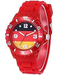 4d68cd90a84d Meigold Reloj de Pulsera con Bandera del Mundo para niños