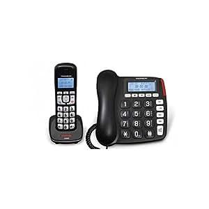 Thomson TH-540D Serea Comby Téléphones Filaire Avec Répondeur Ecran Noir
