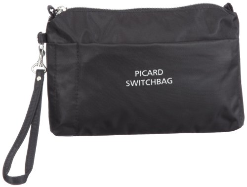 Picard Switchbag 7838 Damen Kosmetiktaschen, Schwarz (schwarz), 20x15x3 cm (B x H x T)