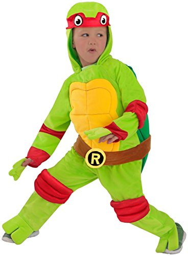 TMNT Teenage Mutant Ninja Turtles Raphael One-Piece Jumpsuit (Halloween Turtles Ninja April Kostüm)