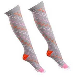 Wanghuaner Männer Socken Spaß Farbige Compression Kniestrümpfe Streifen Regenbogen Herz Sport Stocking