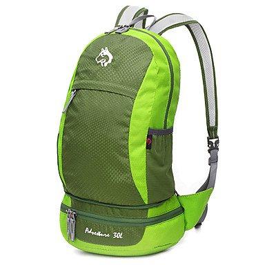 30 L Rucksack Camping & Wandern Klettern Reisen Draußen Leistung Wasserdicht Regendicht Staubdicht Stoßfest tragbar Grün Rot Blau arm green