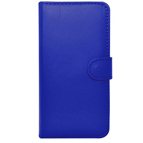 Apple iPhone 6S Plus - Leder-Mappen-Schlag-Fall-Abdeckungs-Beutel + Mini Stylus Pen + Screen Protector & Poliertuch (blau) Blue