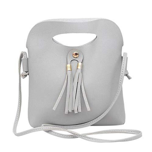 Dooney Bourke Leder Taschen (Mode Frauen Handtasche Quasten Kleine Tasche Mädchen Candy Farbe Leder Schulter Damen Messenger Bags 02)
