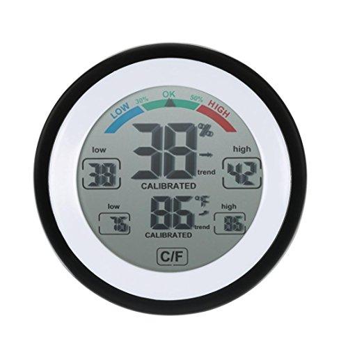Winkey Haushalt Mini Rund Bildschirm Control Thermometer Digital Hygrometer Luftfeuchtigkeit