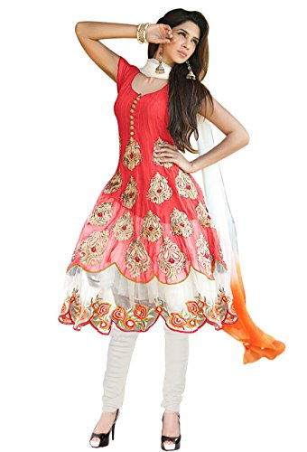 Mada Women\'s georgette anarkali suit free size