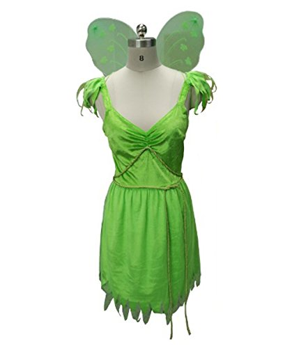 Kostüme Peter Tinkerbell Pan Halloween Und (Costume for Cosplay Tinkerbell Fairy Style Peter Pan HC-039 L)