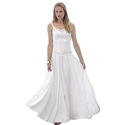 f28d1ebf25 YSABEL MORA - VESTIDO YSABEL MORA IBICENCO mujer color  BLANCO talla  medium