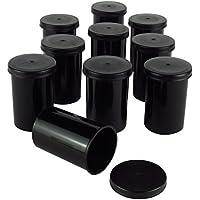 Schwarze Filmdosen - stabiler Kunststoff - für Geocaching oder Kleinteile (25 Stück)