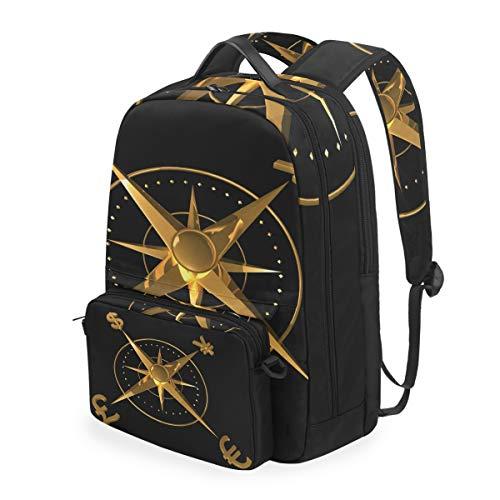 Abnehmbarer Rucksack für Damen und Herren, mit Geldkonzept, für Reisen, College, Schule, Freizeit