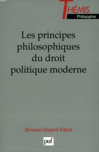 Les Principes philosophiques du droit politique moderne
