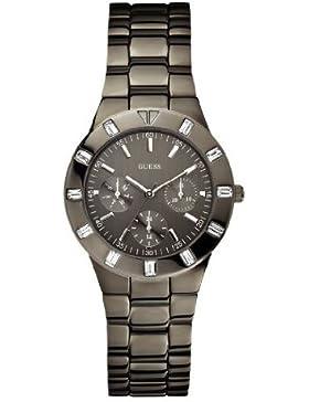 Guess Damen-Armbanduhr XS Glisten Multifunktion Analog Quarz Edelstahl beschichtet W0027L1