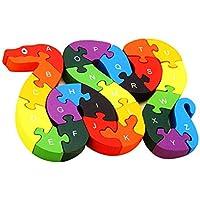 Puzzle Schlangen-ABC Holz  Lernspielzeug   Alphabet  Schlange Buchstaben