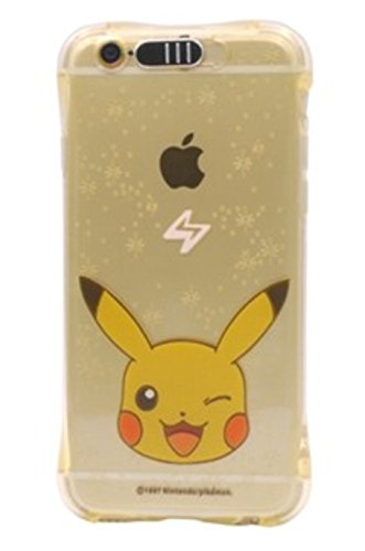 Phone Kandy® A prueba de golpes Anti Bump Transparente suave TPU Color Pokemon Iluminando teléfono Estuche Linterna LED carcasa funda (iPhone 7 (4.7″), Blanco – Psyduck)