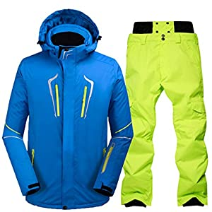 MALLTY Skianzug Herren Winter Outdoor Winddicht Wasserdicht Warm Ski Hosenanzug