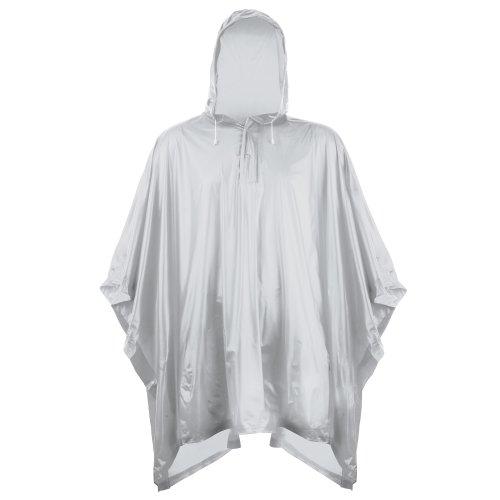 Splashmacs Unisex Regenponcho / Regencape für Erwachsene Einheitsgröße,Silber