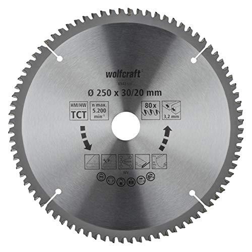 Wolfcraft 6542000 - Hoja sierra tronzadora ingletadora