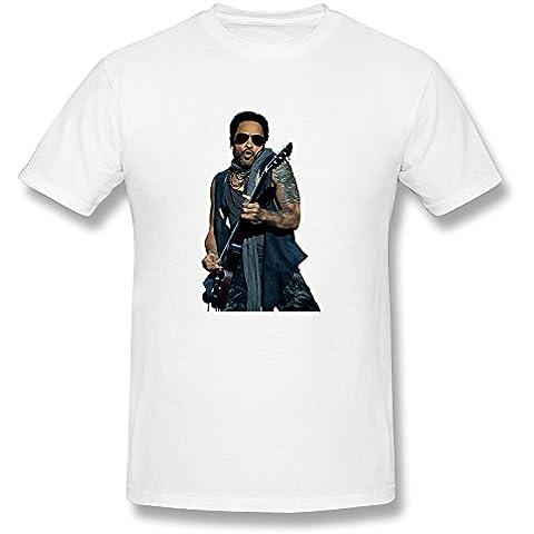 Uomo's Lenny Kravitz Silo T-Shirt- bianca