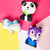 SQUISHIES For Boys And Girls Unicorn Squishy Toys - FUN & PLAYFUL Squashies Pack With Panda And Deer Toy - Kawaii Slow Rising Squidgy Squishie Set - Cute Soft STRESS RELIEVER - JUMBO Squishy Toys