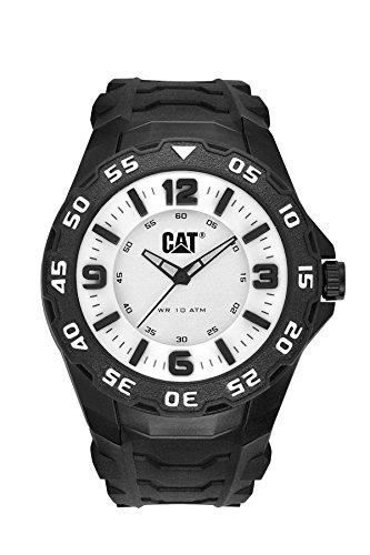 CAT LB.111.21.231 - Orologio da polso, uomo, caucciú, colore: nero