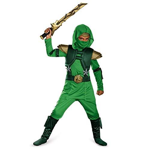 Grün Master Boys Deluxe Ninja Kostüm | 4-6