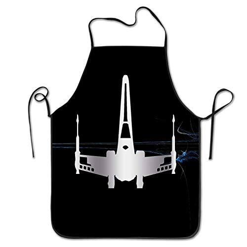 Kostüm Jedi Lady - HTETRERW Starwars Jedi Xwing Platinum Style Stitched Edges Apron for Baking Crafting Gardening Cooking Durable Easy Cleaning Creative Bib for Man and Woman Standar Size