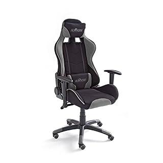 MC Racing 2, Gamingstuhl, Bürostuhl, Schreibtischstuhl, inklusiv Kissen, schwarz/grau, 69 x 125-135 x 58 cm, 62492SG3