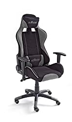 MC Racing 2, gaming chair, office chair, desk chair, including cushions, black / gray, 69 x 125-135 x 58 cm, 62492SG3